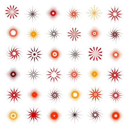 abstract design elements: Design elements set. 36 abstract icons.