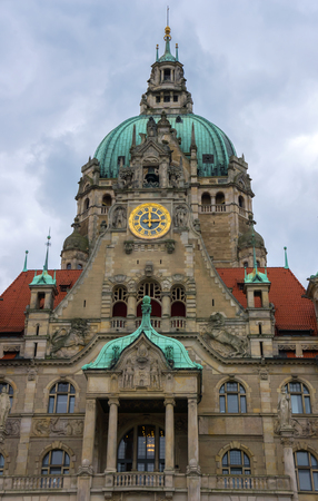 eclecticism: New City Hall in Hannover, Germany.