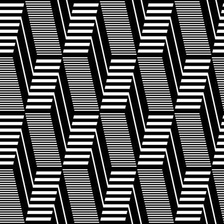 Seamless geometric op art pattern. Lines texture.