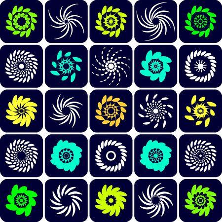 gyration: Design elements set. Illustration