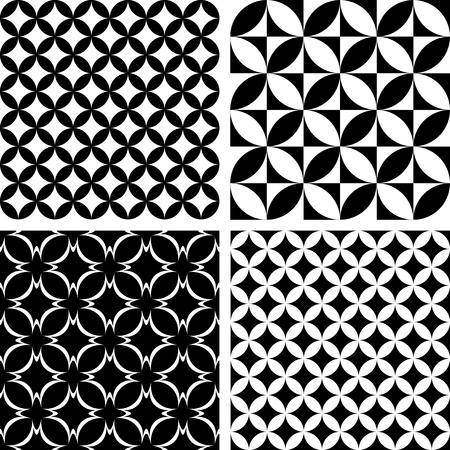Nahtlose Muster. Geometrische Texturen gesetzt. Vector Kunst.