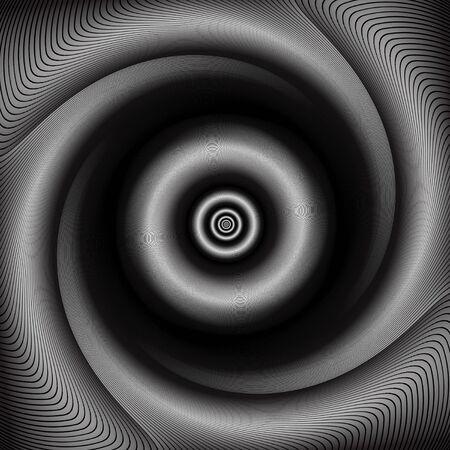 torsion: Abstract torsion and rotation movement. Illustration.