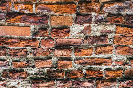 ancient brick wall: Texture of ancient brick wall.