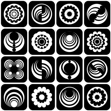 circulating: Design elements set Illustration