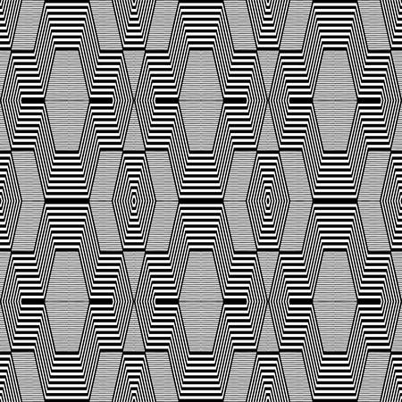 Seamless geometric op art pattern Vektorové ilustrace