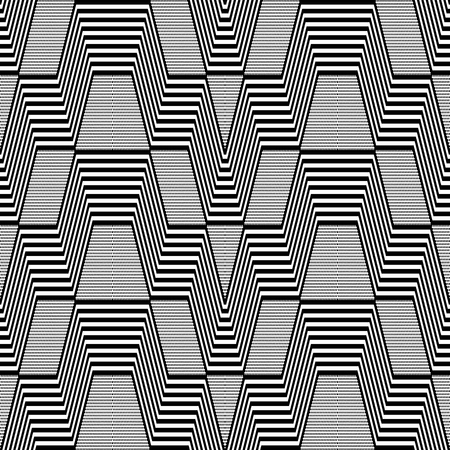 op: Seamless geometric op art pattern Illustration