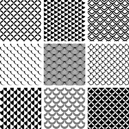 Naadloze patronen die met vissen schaal motief Vector Illustratie
