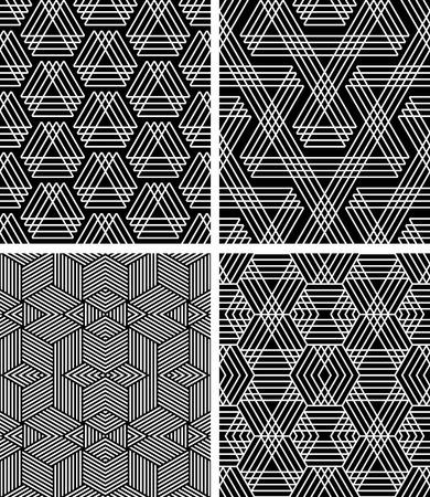 Conjunto de patrones geométricos transparente.