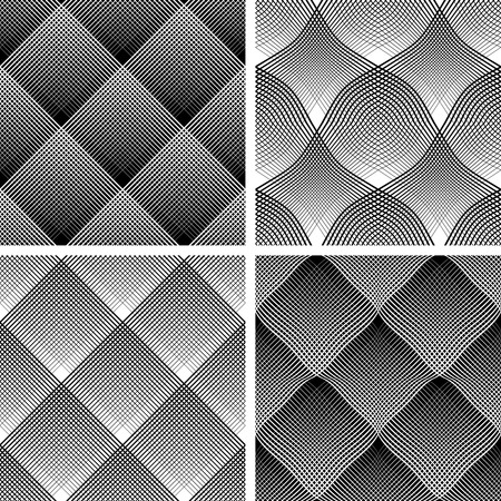 seamless patterns: Seamless reticulate patterns set. Illustration