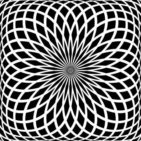 latticed: Abstract rotation pattern Illustration