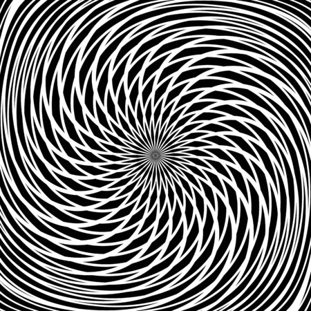 distortion: Circular rotation movement. Abstract textured background. Illustration