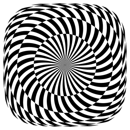 Op art pattern. Rotation illusion. Illustration