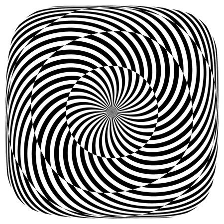 Op art pattern. Rotation illusion.