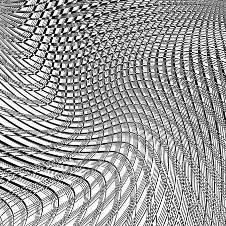 torsion: Torsion illusion. Abstract textured background. Illustration