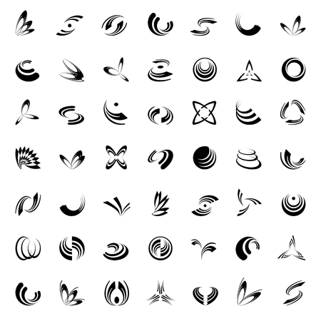 Design elements set. 49 abstract icons.