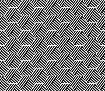 geometric lines: Seamless geometric hexagons pattern