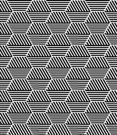 geometric lines: Seamless geometric hexagons pattern