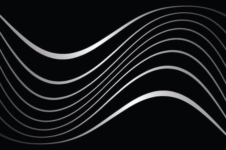 Wavy lines on black background Vettoriali