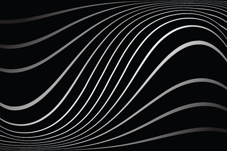 Wavy lines on black background Illustration
