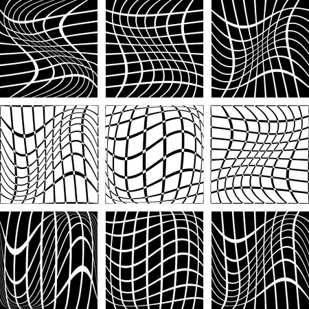 backdrops: Crossing wavy lines in net backdrops Illustration
