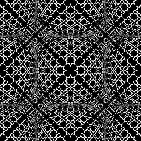 checked: Seamless checked pattern with optical 3D effect. Vector art.
