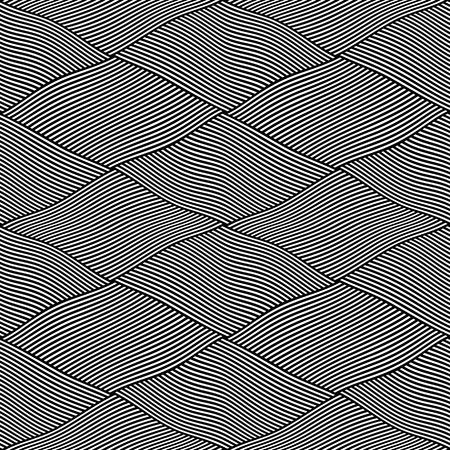 latticed: Seamless interweaving lines pattern. Vector art.