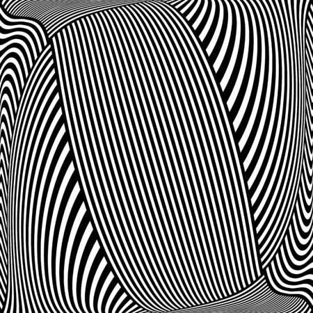 striped lines: Black and white striped lines pattern.  illustration.