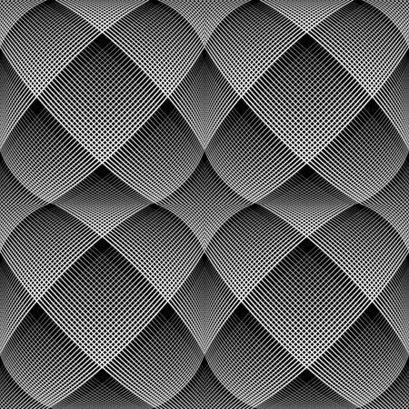 latticed: Seamless op art pattern. 3D illusion.  illustration.