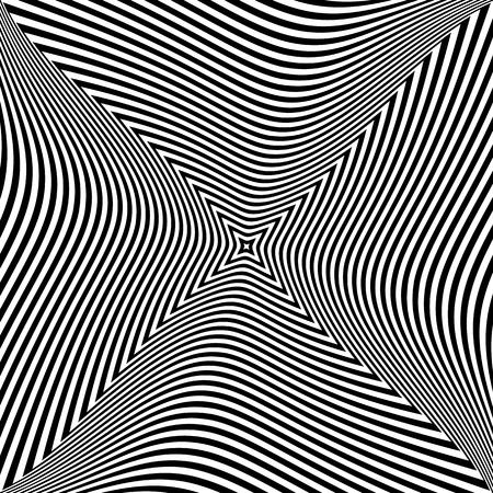 torsion: Abstract op art design. Torsion movement effect. Vector illustration. Illustration