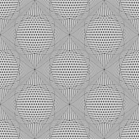 meshy: Seamless meshy op art pattern. 3D illusion. Vector illustration. Illustration