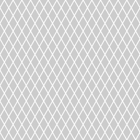 gray netting: Seamless diamonds pattern. Geometric latticed texture. Vector art.
