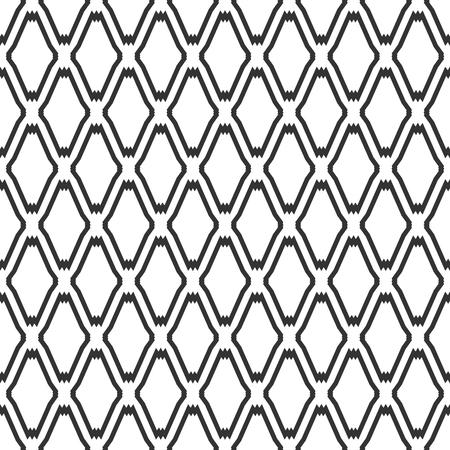 iteration: Seamless diamonds oriental pattern. Geometric latticed texture. Vector art. Illustration
