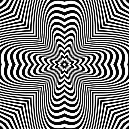 Abstract op art pattern. Vector illustration. Illustration