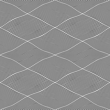 Seamless wavy lines pattern. Vector art.