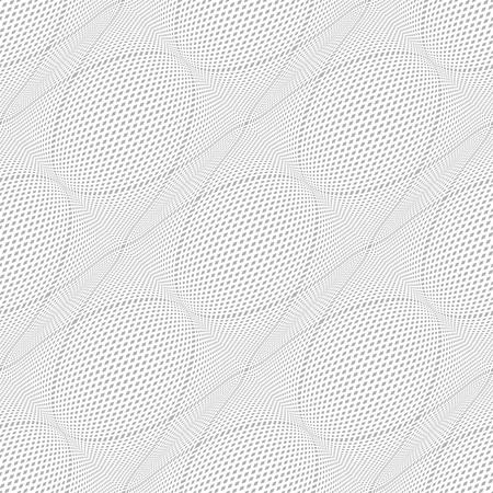 meshy: Seamless meshy pattern. 3D illusion. Vector illustration.