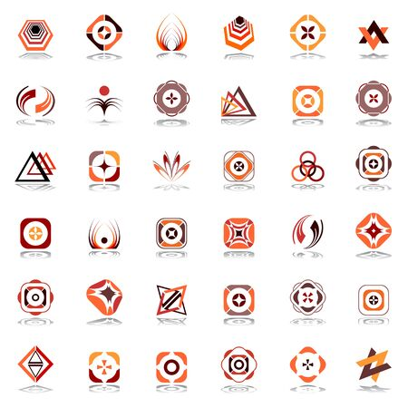 icon collection: Design elements set. Vector art. Illustration