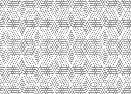 latticed: Seamless geometric pattern. 3D illusion. Latticed texture art.
