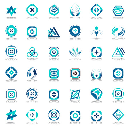 circle icon: Design elements set. Abstract icons art. Illustration
