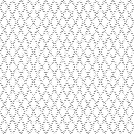 gray netting: Geometric latticed texture. Seamless diamonds pattern art. Illustration