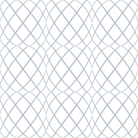 laced: Seamless pattern. Wavy lines latticed texture. Vector art. Illustration