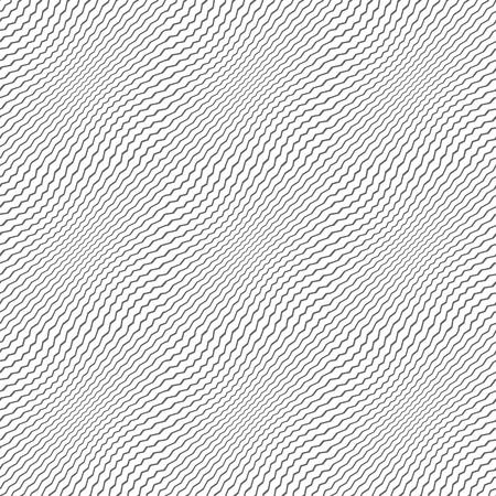 Seamless pattern. Wavy zigzag lines texture. Vector art. Illustration