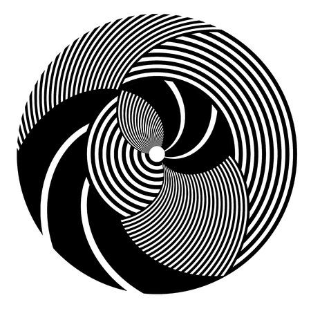 Abstract rotation circle design element. Vector art. Vettoriali