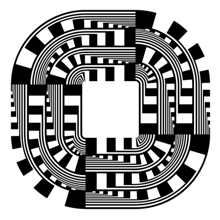 abstract art: Abstract design element. Vector art. Illustration