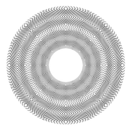 Abstract circle pattern. Lines texture. Vector art. Illustration