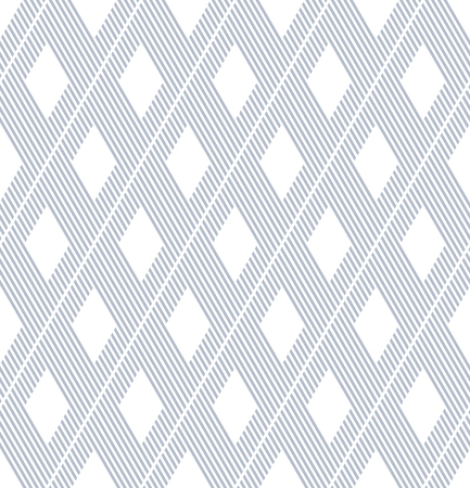 repeat texture: Seamless diamonds and striped lines pattern. Pinstripe texture. Vector art.