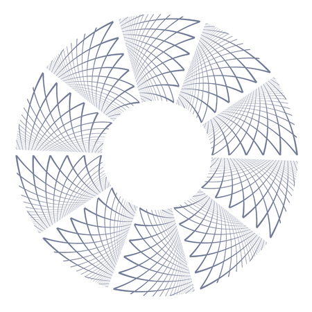 Circle rotation design element. Vector art.
