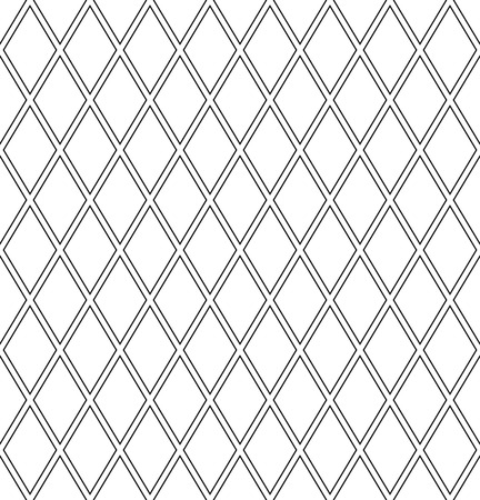 Seamless diamonds lattice pattern. Geometric texture. Vector art.