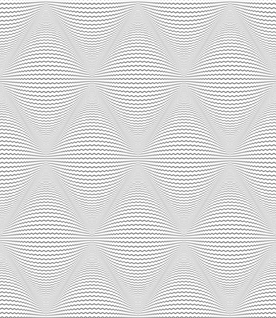 Seamless diamonds op art pattern. Zigzag lines texture. Vector illustration.