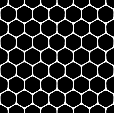 reticular: Seamless hexagons pattern. Vector art.