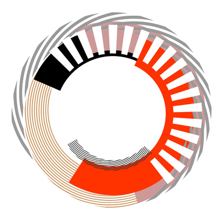Abstract circle design element. Vector art.